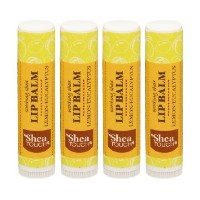 Shea Touch - Lip Treatment Balm - Lemon-eucalyptus - Pack of 4 Tubes of 0.15 Oz by Shea Touch