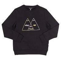 Poler Venn Diagram Crewneck Sweatshirt Black L 並行輸入品