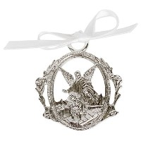Guardian Angel Crib Medal with White Ribbon by Simply Charming