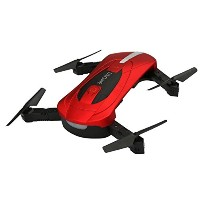 owill jy018 WiFi FPVクアッドコプターMini Drone折りたたみ式自撮りRC Helicopter with 720p HDカメラ One Size レッド OW090512BK