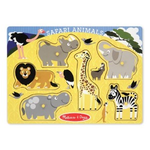 Melissa And Doug Safari Animals Peg Puzzle (並行輸入品)