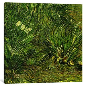 iCanvasART 14342 – 1pc6 – 12 x 12 2つホワイトButterfliesキャンバスプリントby Vincent Van Gogh 1.5 x 26 x 26-Inch...