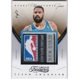 タイソン・チャンドラー 2013-14 Panini Timeless Treasures Every Player Every Game Patch Tag 1/1 Tyson