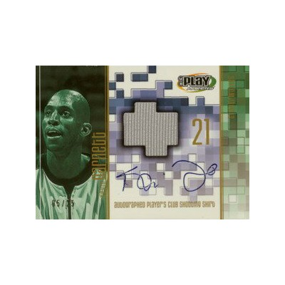 Kevin Garnett 2001/02 UD Playmakers Player's Club Shooting Shirt Autograph 25枚限定!