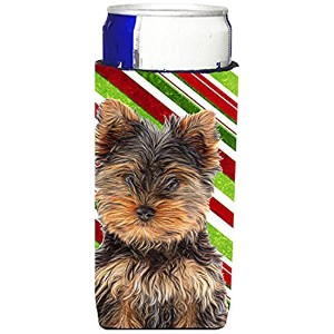 【Candy Cane HolidayクリスマスYorkie Puppy /ヨークシャー・テリアUltra Beverage Insulators forスリム缶kj1174muk】 b00qqir8y6