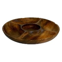 High Quality Artisan Acacia Wood Chip and Dip Serving Tray
