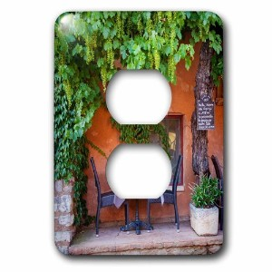 High Quality lsp_207625_6 Outdoor Cafe in Roussillon, Provence, France. 2 Plug Outlet Cover