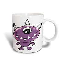 3drose Dooni Designs Monsters and Alien Designs – キュートパープルPeople Eater Monster Cartoon Character –...