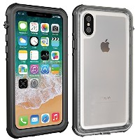iPhone防水ケースX、cooxer耐久性防水ショック、耐衝撃クリアスリムアーマーケースfor iPhone X ブラック