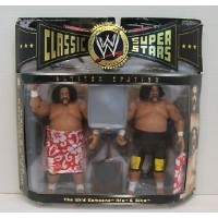 【Jakks Pacific, WWE, Classic Superstars, Exclusive The Wild Samoans Action Figures [Afa and Sika],...