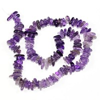 【AAA Natural Amethyst Gemstones Round Chips Beads Free-form Loose Beads ~10x8mm beads for Jewelry...