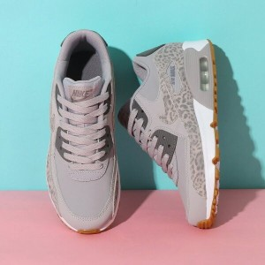 NIKE AIR MAX 90 LTR SE GG(ナイキ エア マックス 90 レザー SE GS)(ATMOSPHERE GREY/GUNSMOKE-WHITE)18SP-I