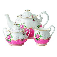 【Royal Doulton 3-Piece New Country Roses Tea Party Cheeky Set, Pink by Royal Albert】 b00si0t33e