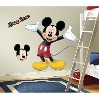 (ミッキーマウス ウォールステッカー) Roommates Rmk1508Gm Mickey Mouse Peel And Stick Giant Wall Decal