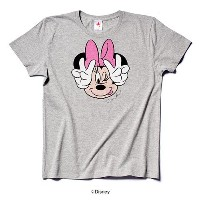 rockin'star★ Tシャツ FACE MINNIE(GREY) [L]