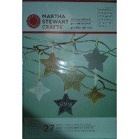 Martha Stewart Crafts Fancy Alphabet Holiday AdhesiveステンシルOrnaments