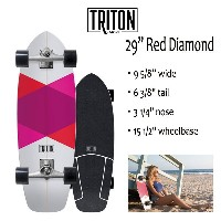 "TRITON SKATEBOARD,トライトンスケートボード/29""RED DIAMOND/CX.4 TRACK/サーフスケート/by carver/カーバースケートボード/2018年日本先行発売..."