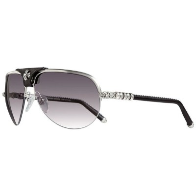 CHROME HEARTS BALLS Brushed Silver-Black Leather クロムハーツ アイウェア 眼鏡