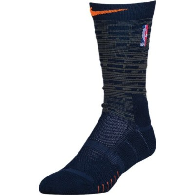ナイキ ユニセックス バスケットボール【NBA Elite Quick Crew Socks】Black/Anthracite/Team Orange