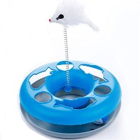 New Arrival Pet Cat Toys Single-layer Kettle Spring Mice Crazy Amusement Disk Multifunctional Disk...
