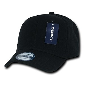 Decky 1015-BLK Acrylic Curved Bill Snapbacks, Black