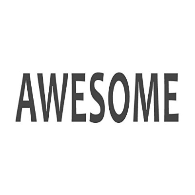 Awesome、pre-inked先生ラバースタンプ( # 672201-a ) ,スタイルA Large size (58 x 18mm) パープル