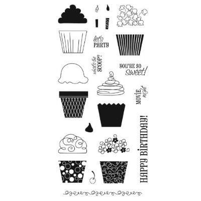 Fiskars 4x8 Inch Cupcakes and More Clear Stamp by Fiskars