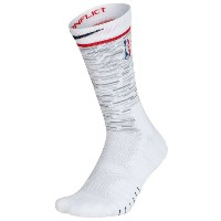 ナイキ ユニセックス バスケットボール【NBA Elite Quick Crew Socks】White/Silver/College Navy