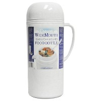 Brentwood raz10Wide Mouthガラス真空/ Foam Insulated Food Thermos、1.0-liter by Brentwood