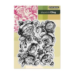 Penny Black 40-190 Cling Rubber Stamp, Bed of Roses by Penny Black