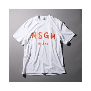 【MSGM×LOVELESS/GUILD PRIME】MENS EXCLUSIVE T-SHIRT【ギルドプライム/GUILD PRIME メンズ Tシャツ・カットソー ホワイト ルミネ...