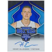 ヘンリー・エレンソン 2016-17 Panini Totally Certified Rookie Roll Call Auto Blue 97/99 Henry Ellenson