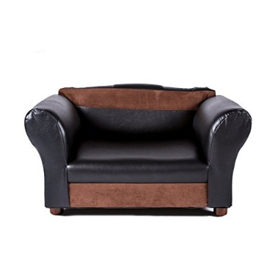Mini Sofa Black and Brown Pet Bed by Keet