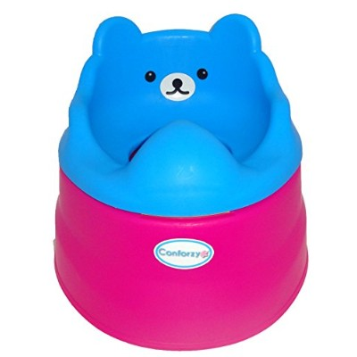 Teddy Potty Training Toilet Seat (Blue & Pink) by Conforzy