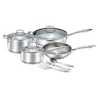 Chef 's Starプロフェッショナルグレードステンレススチール10 Piece Pots & Pansセット – 誘導Ready Cookware Set with impact...