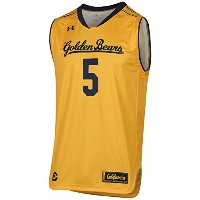 Cal Golden Bears Under Armour Steeltown Gold HeatGear # 5レプリカジャージー