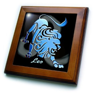 FT _ 918 Zodiac Signs Horoscope – Leo zodiac sign – フレーム付きタイル 8x8 Framed Tile ft_918_1
