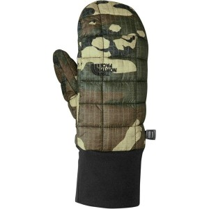 ザ ノースフェイス レディース 手袋・グローブ【Thermoball Mitten】Burnt Olive Green Woodchip Camo Print