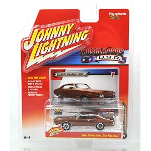 """JOHNNY LIGHTNING 1:64SCALE """"MUSCLE CARS U.S.A"""" """"'71 PONTIAC GTO""""(BROWN) SERIES1 ジョニーライトニング 1:64スケール..."""