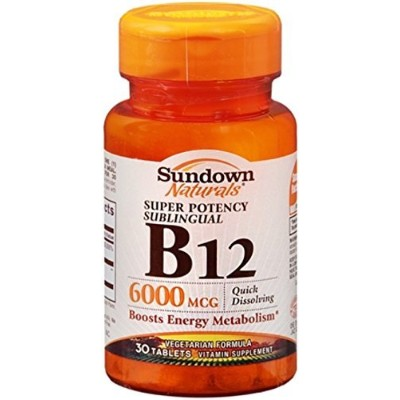 VIT B-12 SUBL TAB 6000MCG SDWN 30 by Sundown