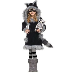 Sweet Raccoon Costume: Toddler or Girls Halloween Costume WB (4-6 with Bracelet for Mom) by In...