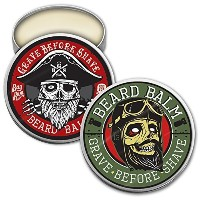 GRAVE BEFORE SHAVE Beard Balm Duel Pack by Fisticuffs Mustache Wax [並行輸入品]