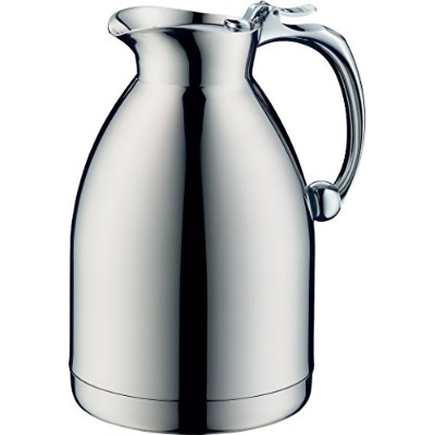 Alfi Hotello Vacuum Insulated Thermos Carafe for Hot and Cold Beverages, 1.0 L, Stainless Steel
