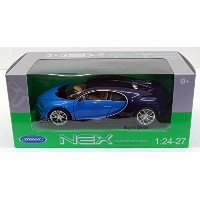 Welly 1/24 Scale Diecast 24077W - Bugatti Chiron - Black Blue