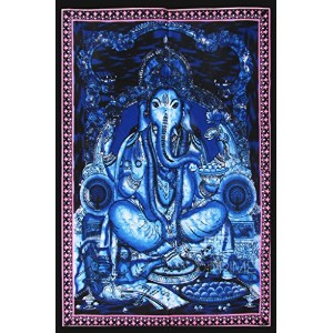 indiprime従来ロードGanesh Wall Hanging Size - Height 45.5 inches Width 30.5 inches ブルー IPLT00004
