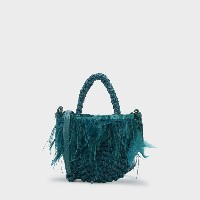 【SALE 50%OFF】キッズフェザーウーブンバッグ / KIDS FEATHERED WOVEN BAG  (Green)