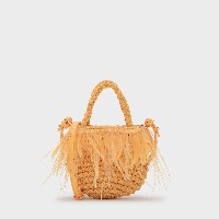 【SALE 50%OFF】キッズフェザーウーブンバッグ / KIDS FEATHERED WOVEN BAG  (Yellow)