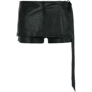 Andrea Bogosian layered leather shorts - ブラック