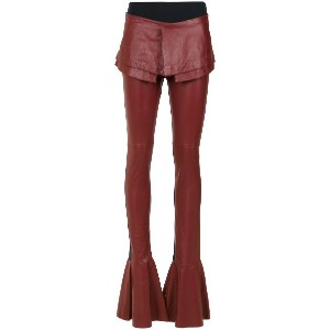 Andrea Bogosian layered flared trousers - レッド