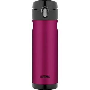 Thermos Stainless Steel Commuter Bottle, 16-Ounce, Raspberry パープル トラベル マグ タンブラー 水筒 450ml